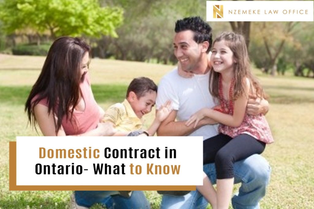Domestic Contract in Ontario- What to Know
