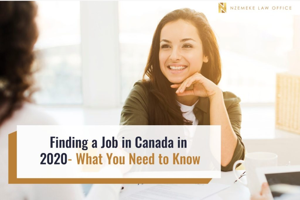 Finding a Job in Canada in 2020- What You Need to Know