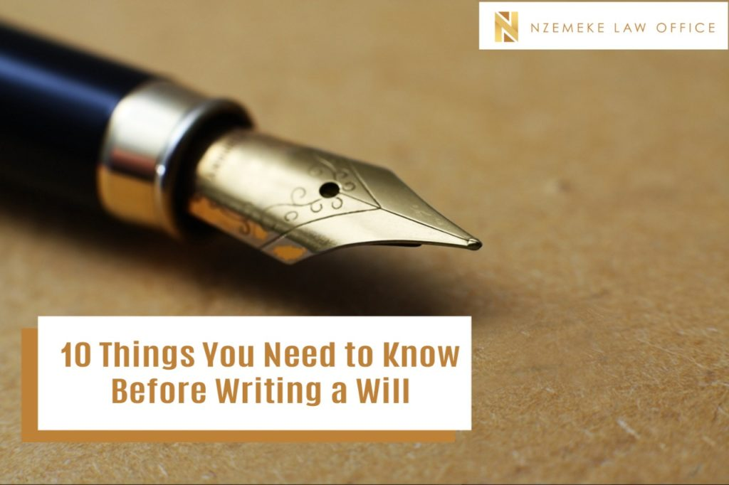 10 Things You Need to Know Before Writing a Will