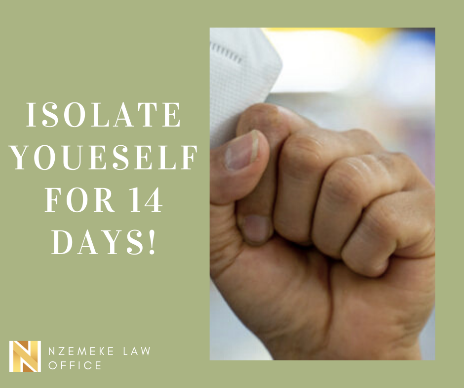 isolate yourself for fourteen days